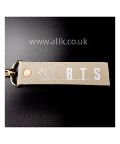 BTS NAME STRAP BEIGE LEATHER
