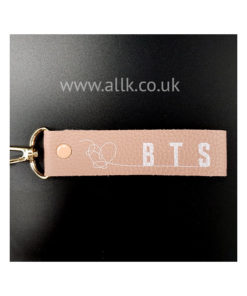 BTS NAME STRAP PINK LEATHER